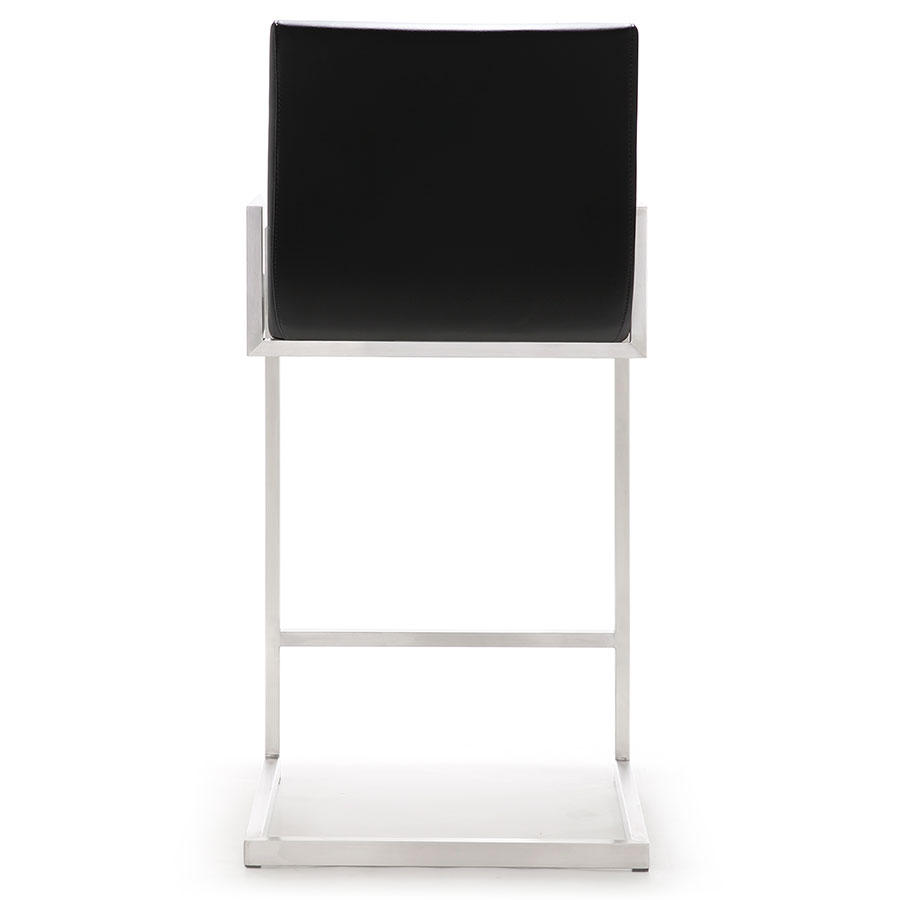 Marshall Modern Black Counter Stool - Back View