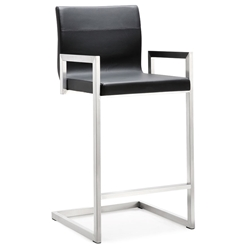 Marshall Modern Black Counter Height Stool
