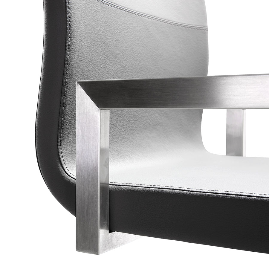Marshall Modern Gray Counter Stool - Seat Detail