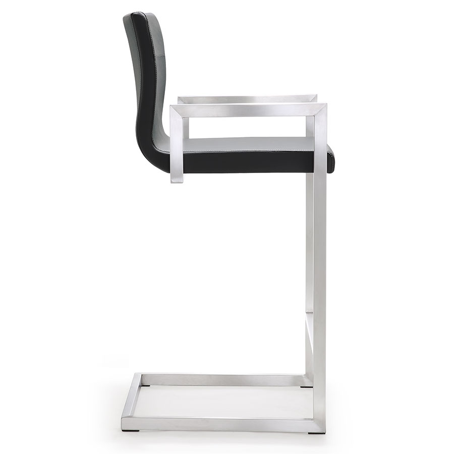 Marshall Modern Gray Counter Stool - Side View