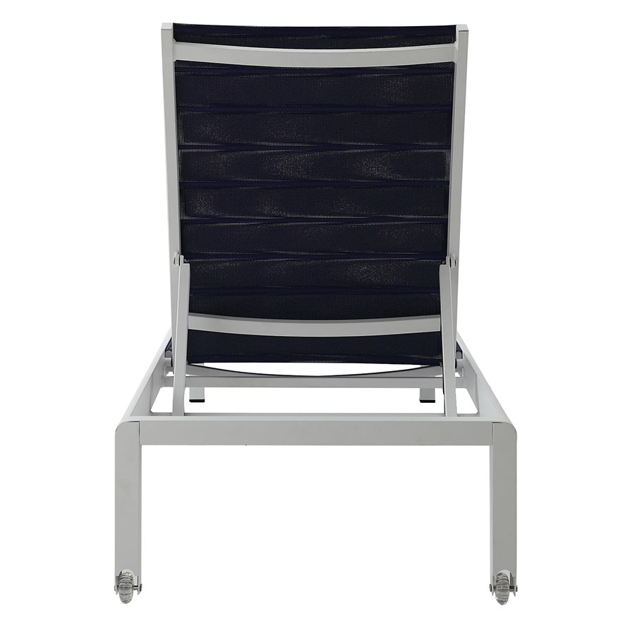 Marta Blue Contemporary Outdoor Chaise