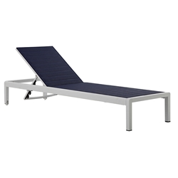 Marta Blue Contemporary Outdoor Chaise Lounge