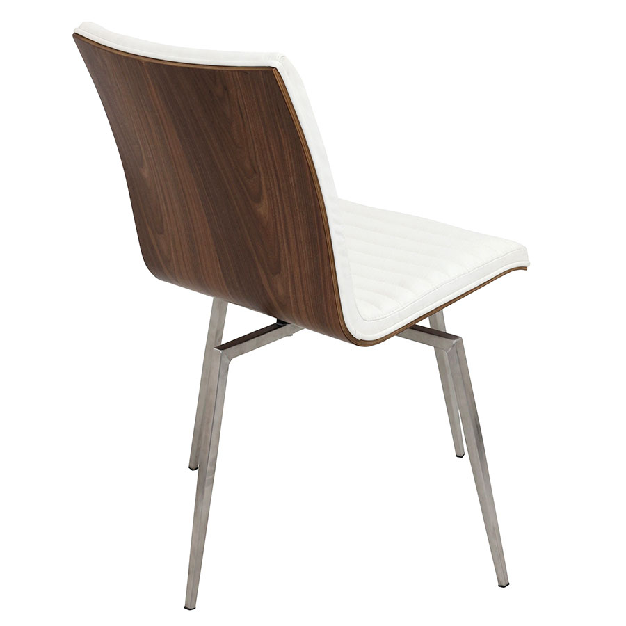 Marvin White Contemporary Swivel Dining Chair