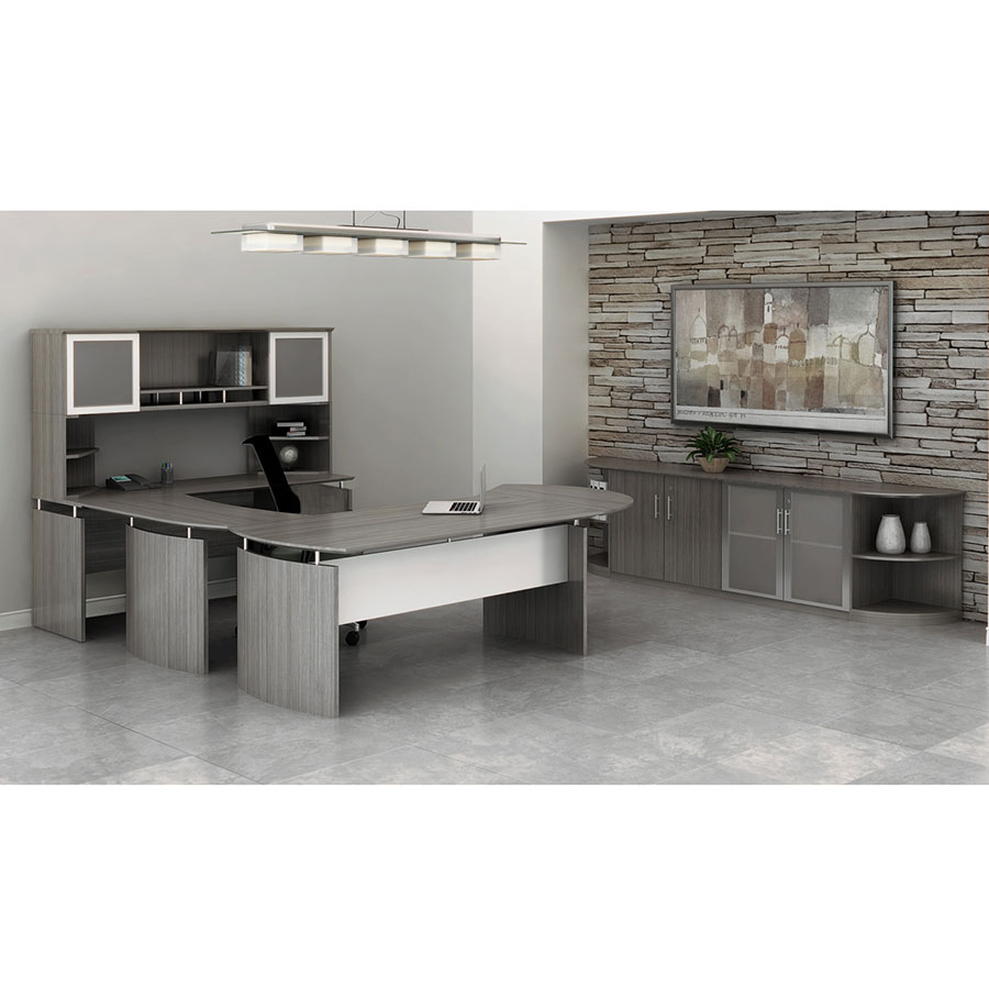 Maya Executive Office Collection in Gray Steel