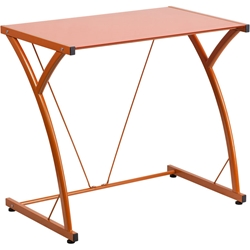 Orange Mazzoni Contemporary Desk