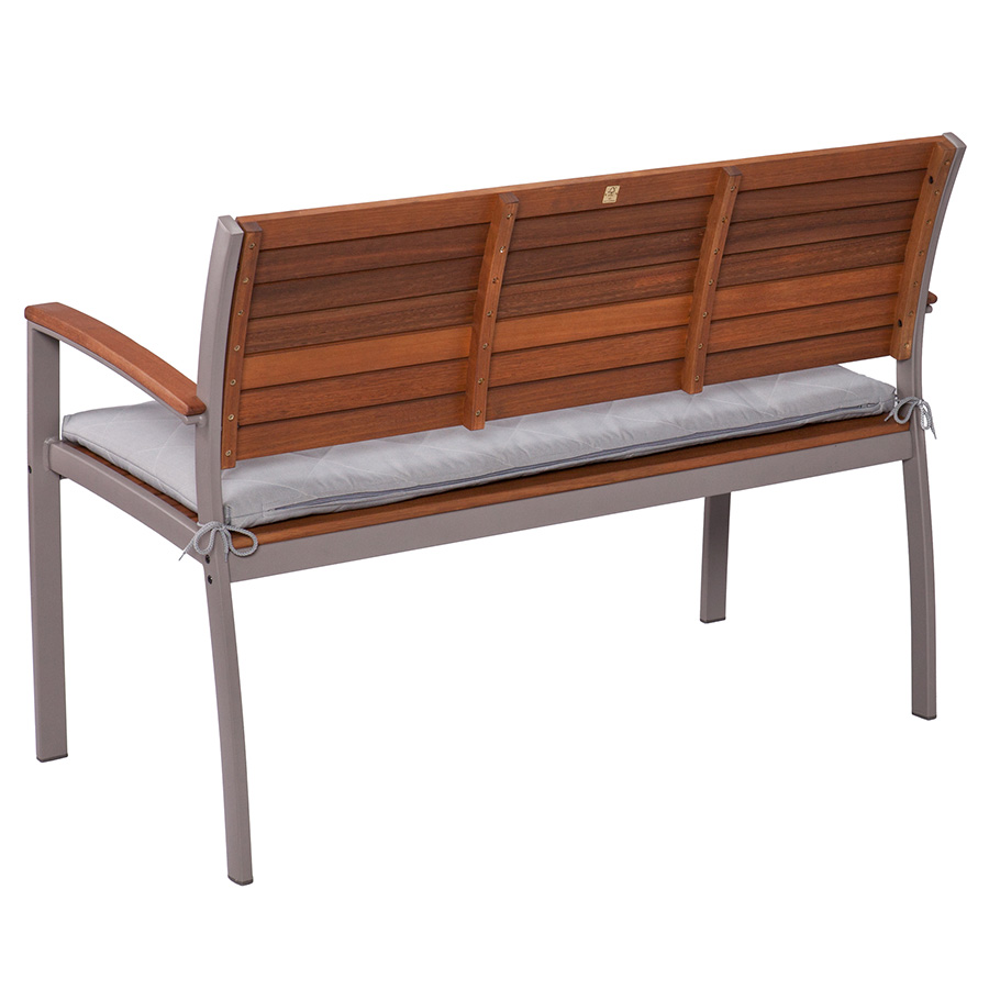 Medina Modern Gray Outdoor Bench Eurway Furniture