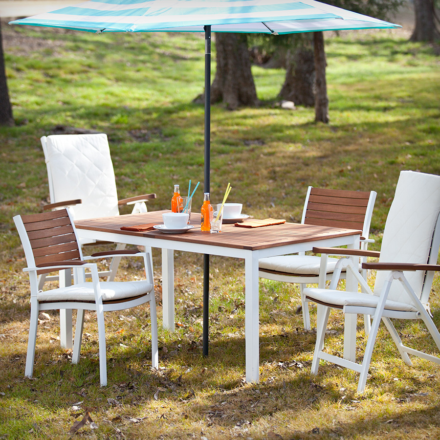 Medina Modern White Outdoor Dining Table Eurway