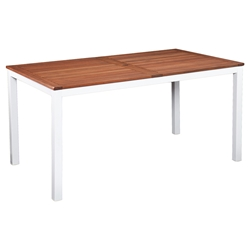 Medina Modern White Outdoor Dining Table