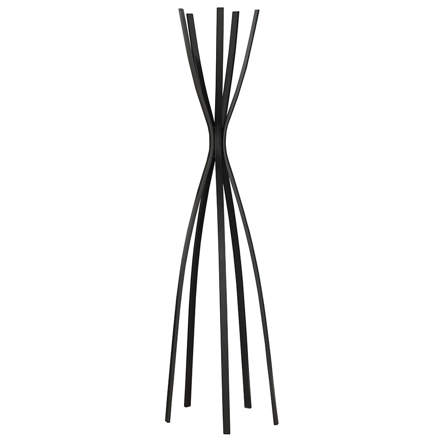 Megann Black Modern Coat Rack