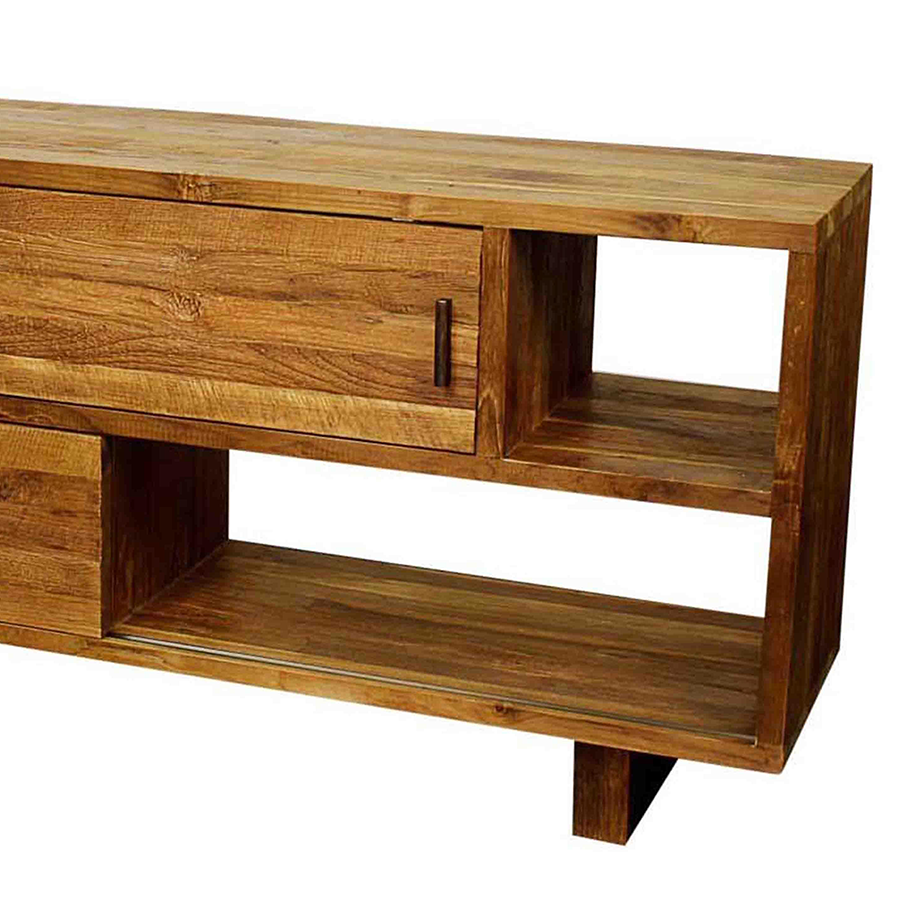 Meino Contemporary Reclaimed Teak TV Stand