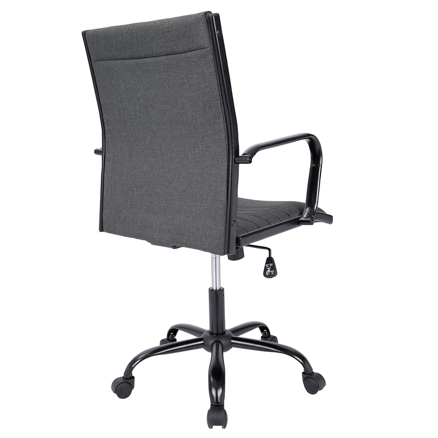 Mencken Charcoal Fabric Contemporary Office Chair
