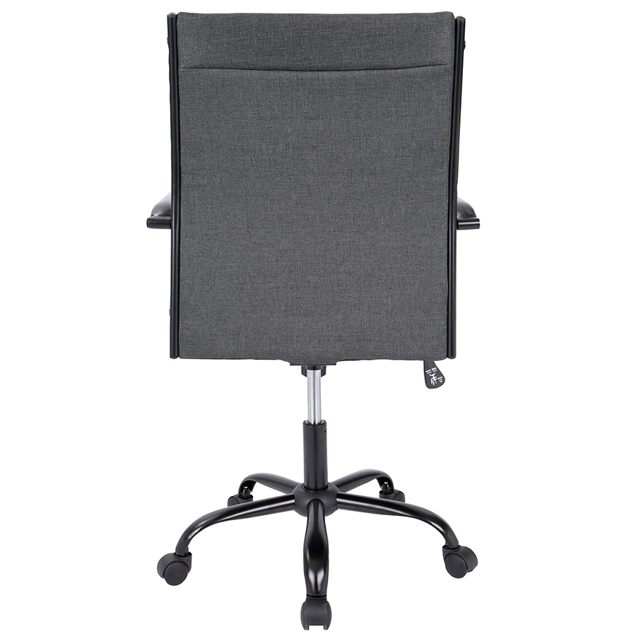 Mencken Charcoal Fabric + Black Metal Modern Office Chair