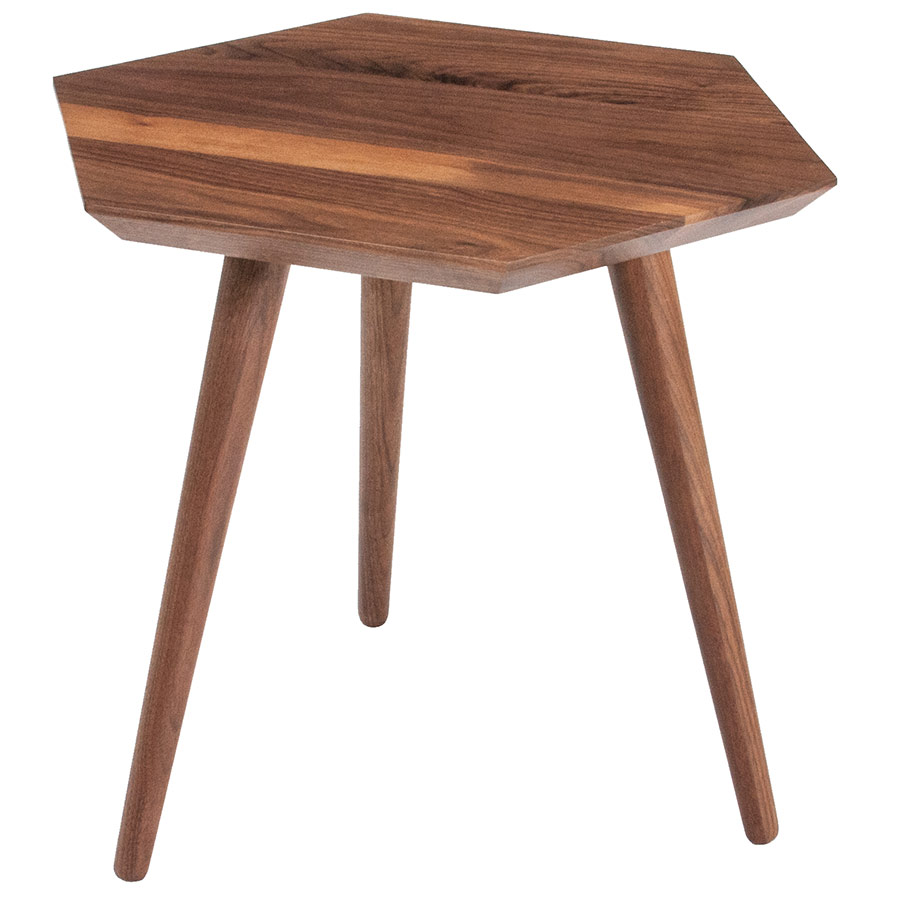 Metric Contemporary End Table by Gus Modern in Walnut