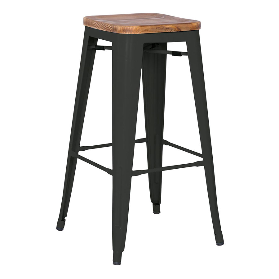 Metro Modern Backless Black Counter Stool