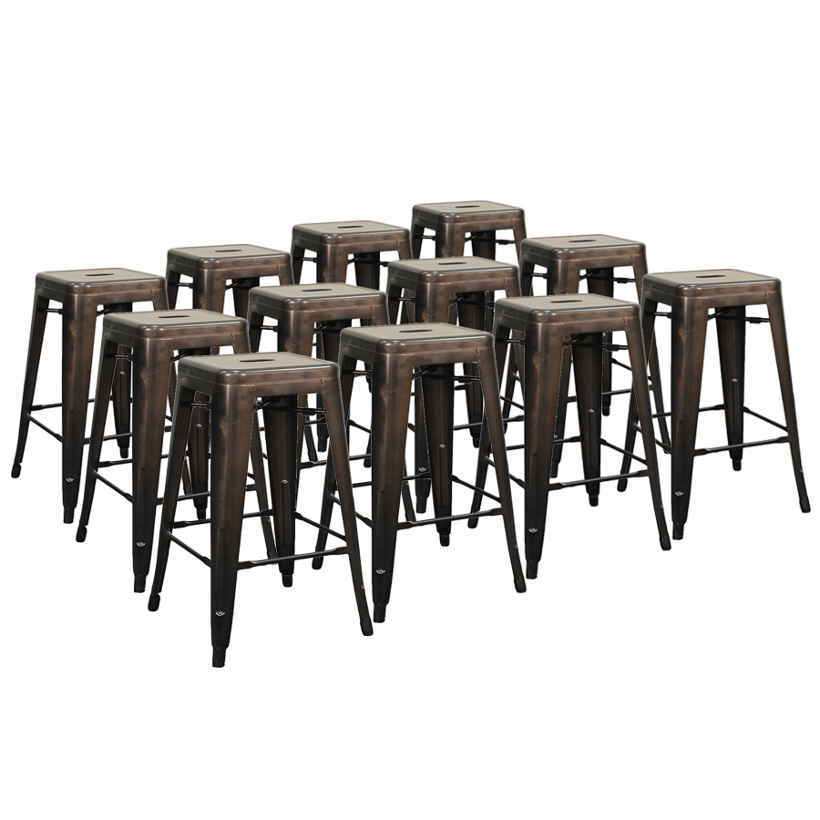 Metro Backless Gun Metal Modern Counter Stool Cheaper by the Dozen