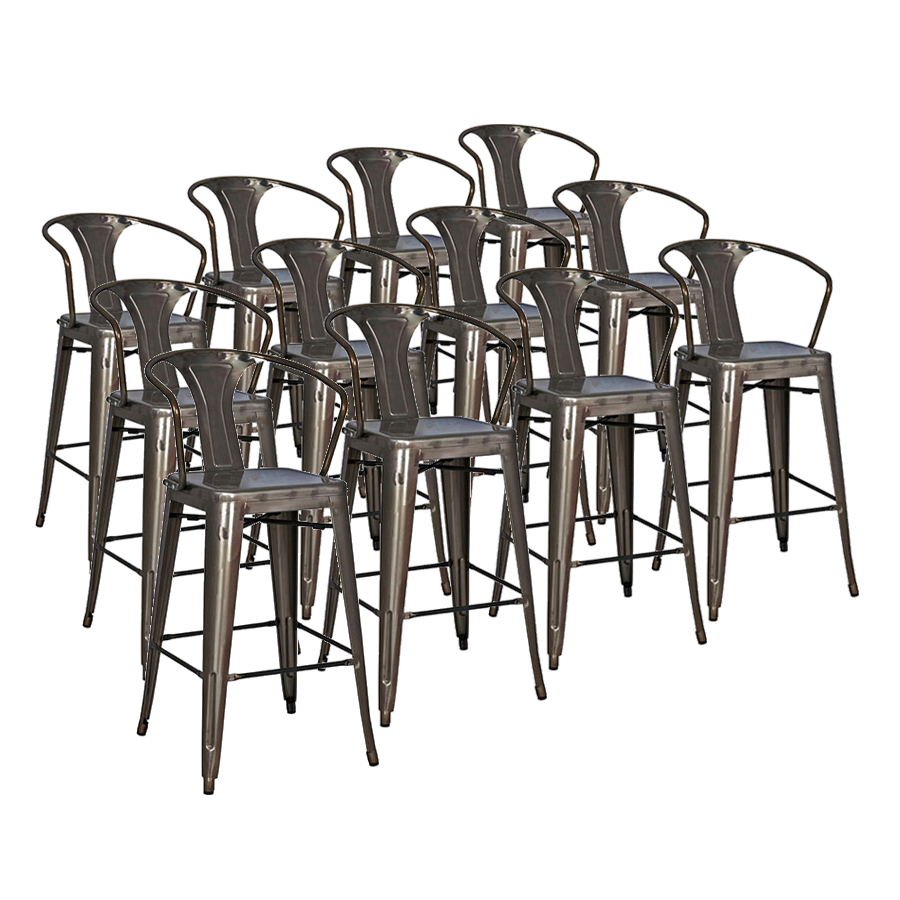 Metro Gun Metal Modern Counter Stool Cheaper by the Dozen