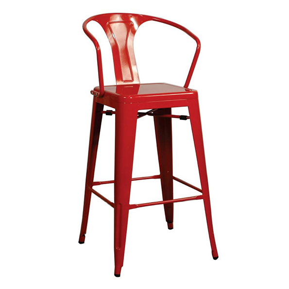 Metro Modern Red Metal Counter Stool Eurway Furniture