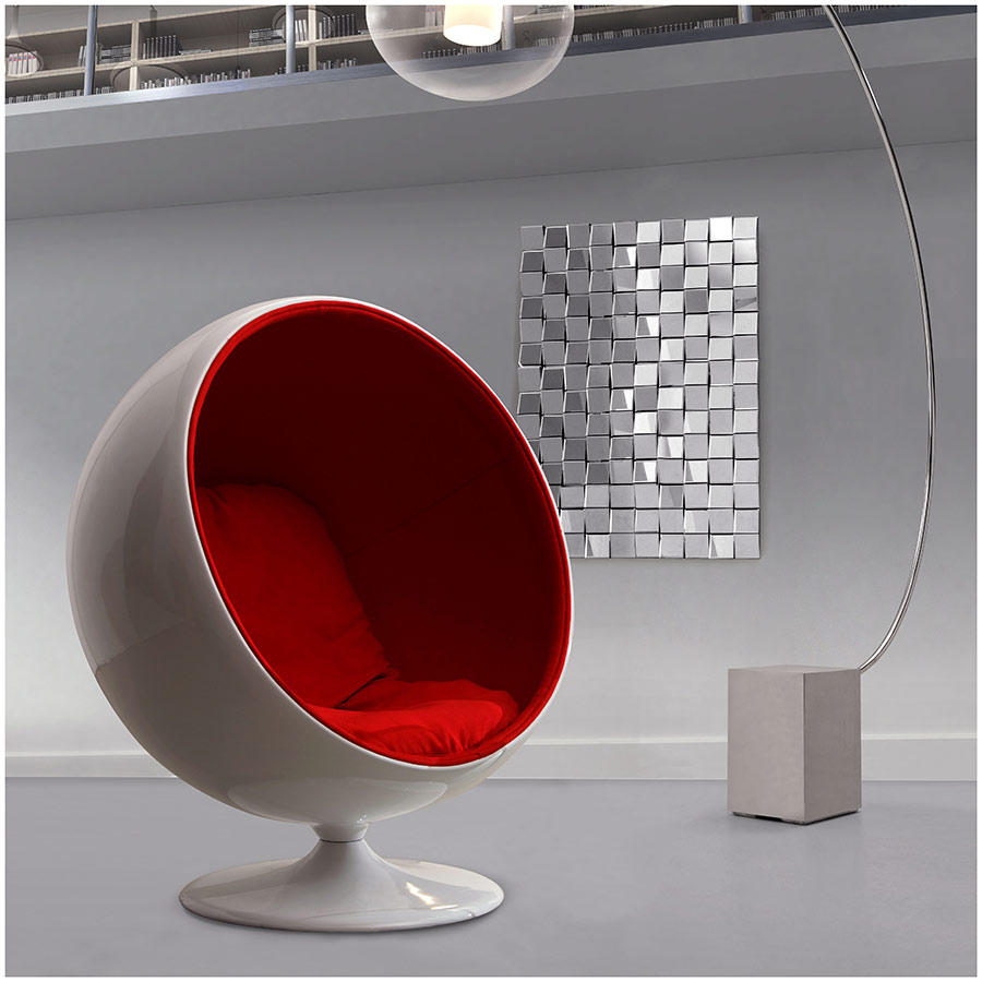 Mib Modern Chair in Red