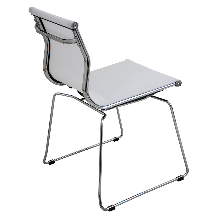 Midland White + Metal Contemporary Side Chair