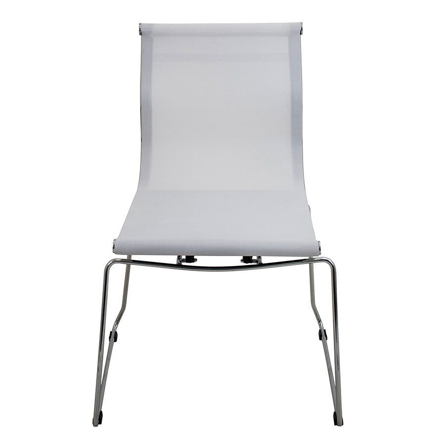 Midland White Contemporary Side Chair