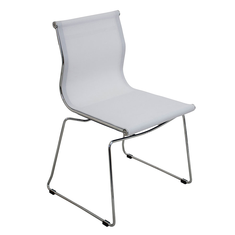 Midland White Modern Side Chair