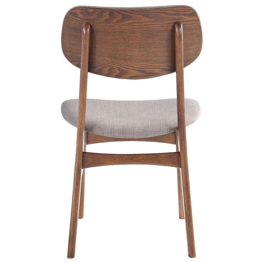 Midolo Modern Dining Chair in Dove Gray - Back View