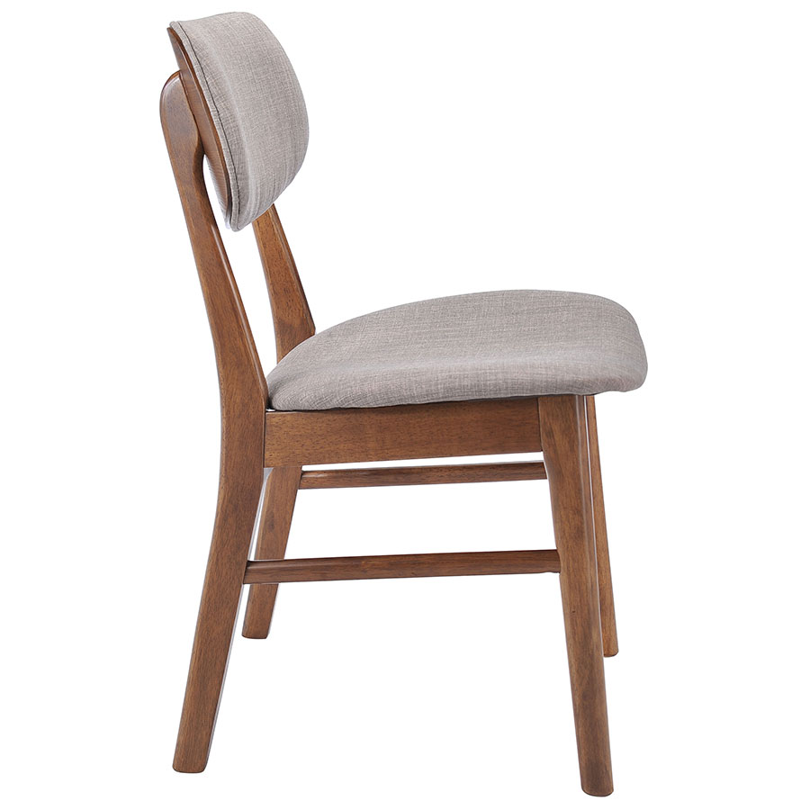 Midolo Modern Dining Chair in Dove Gray - Side View