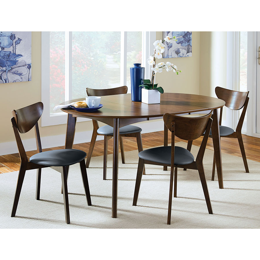 Milam Modern Side Chairs + Oval Table