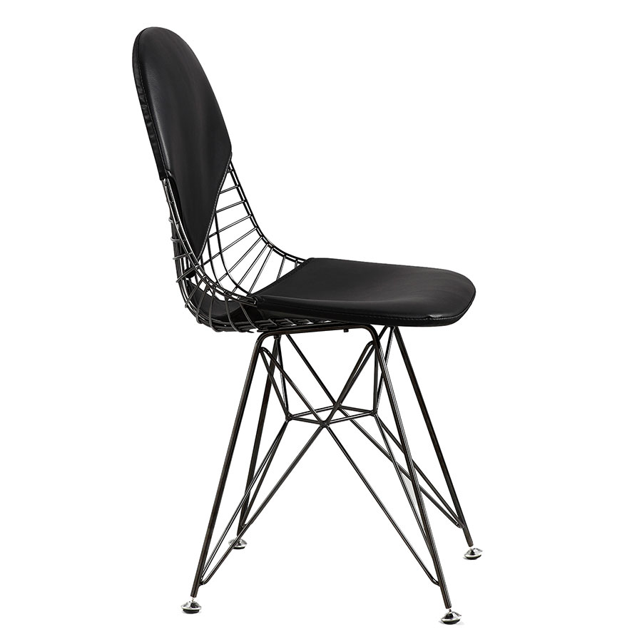 Mildred Black Modern Accent Chair