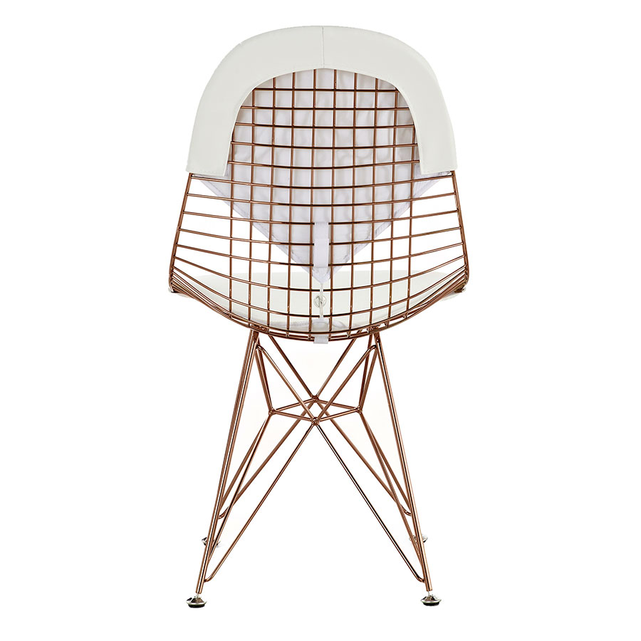 Mildred White + Rose Contemporary Accent Chair