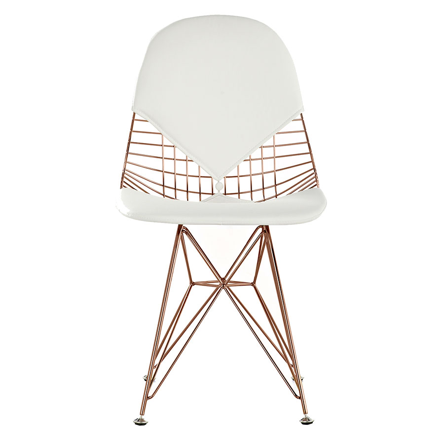 Mildred White + Rose Contemporary Side Chair