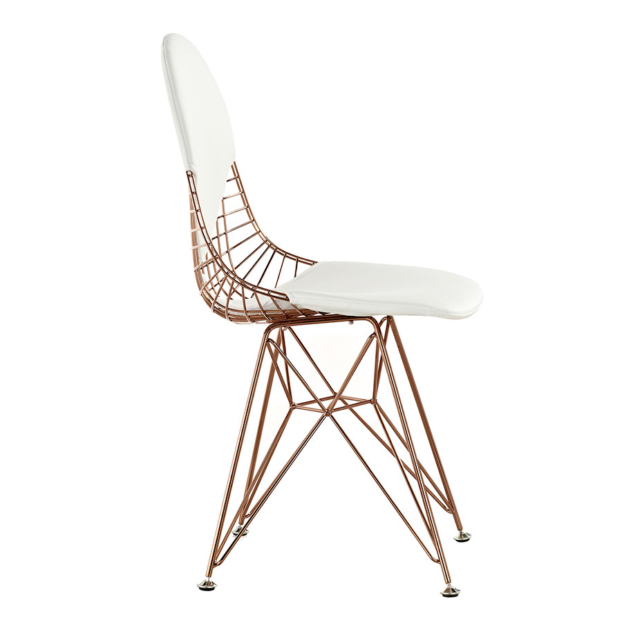 Mildred White + Rose Modern Accent Chair