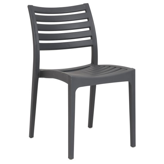 Milena Dark Gray Modern Stacking Side Chair