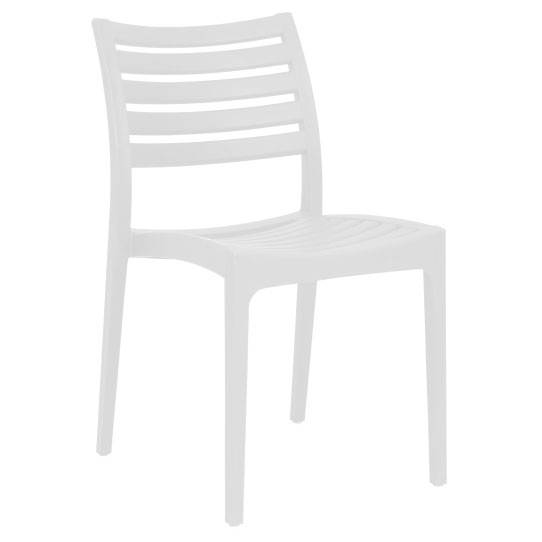 Milena Dark White Modern Stacking Side Chair