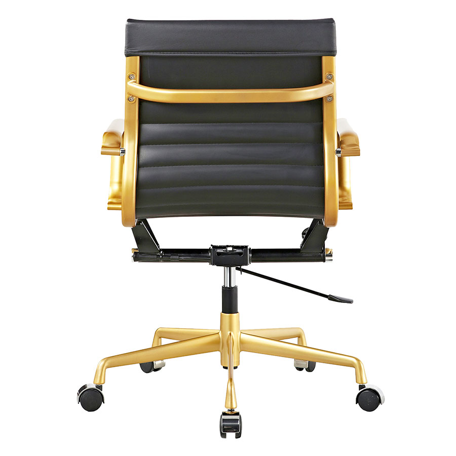 Mirana Black + Gold Contemporary Office Chair