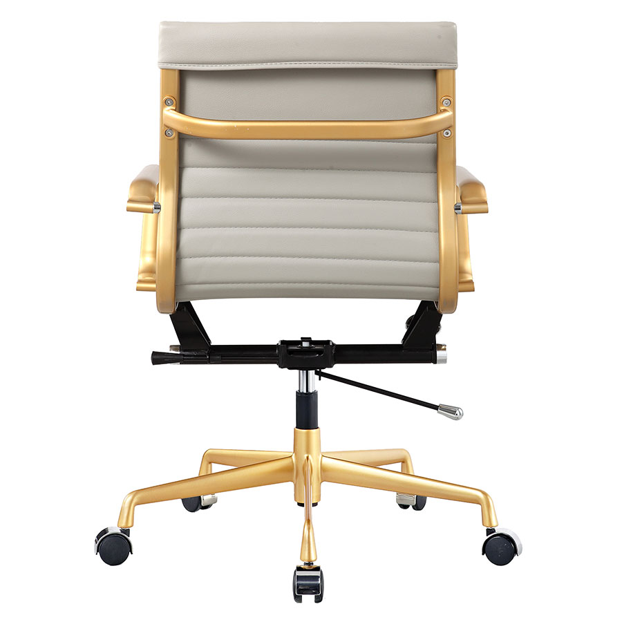 Mirana Gray + Gold Contemporary Office Chair