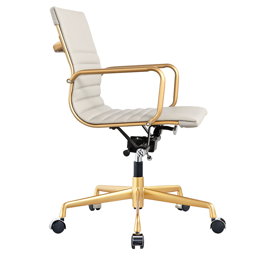 Mirana Gray + Gold Modern Office Chair