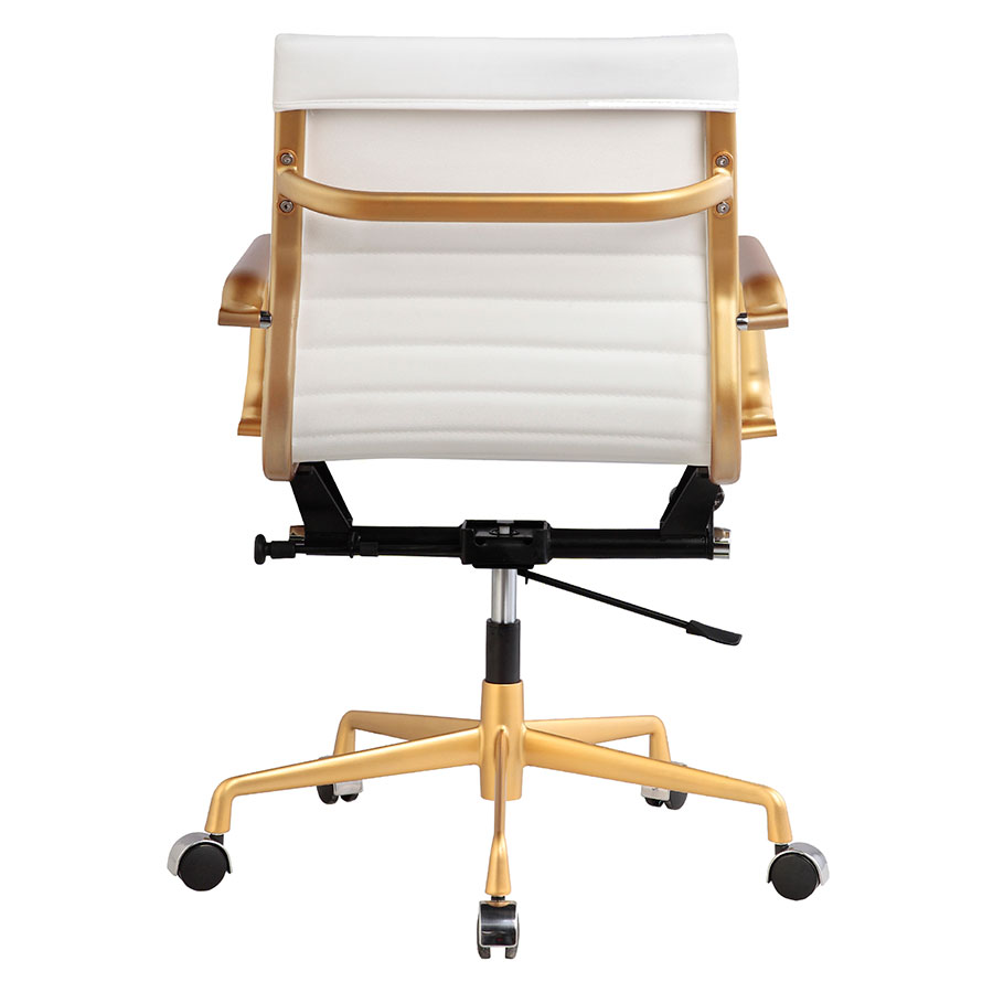 Mirana White Contemporary Office Chair