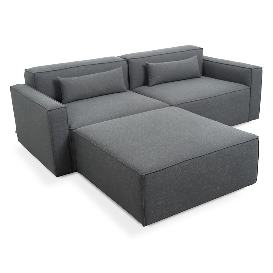 Mix Modular 3 Piece Sectional in Berkleley Shield Upholstery by Gus* Modern