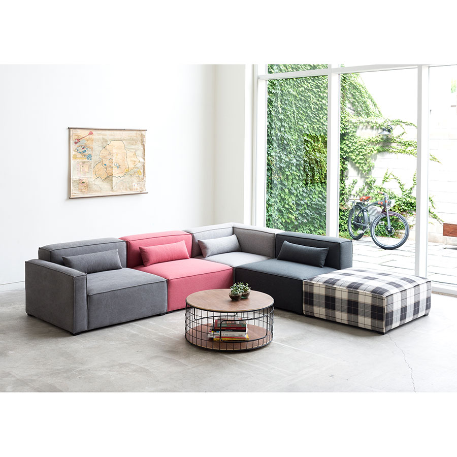 Mix Modular 5 Piece Sectional in Mixed Upholstery by Gus* Modern Lifestyle