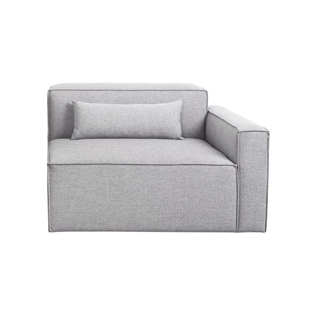 Mix Modular Right Facing Arm Chair in Parliament Stone by Gus* Modern