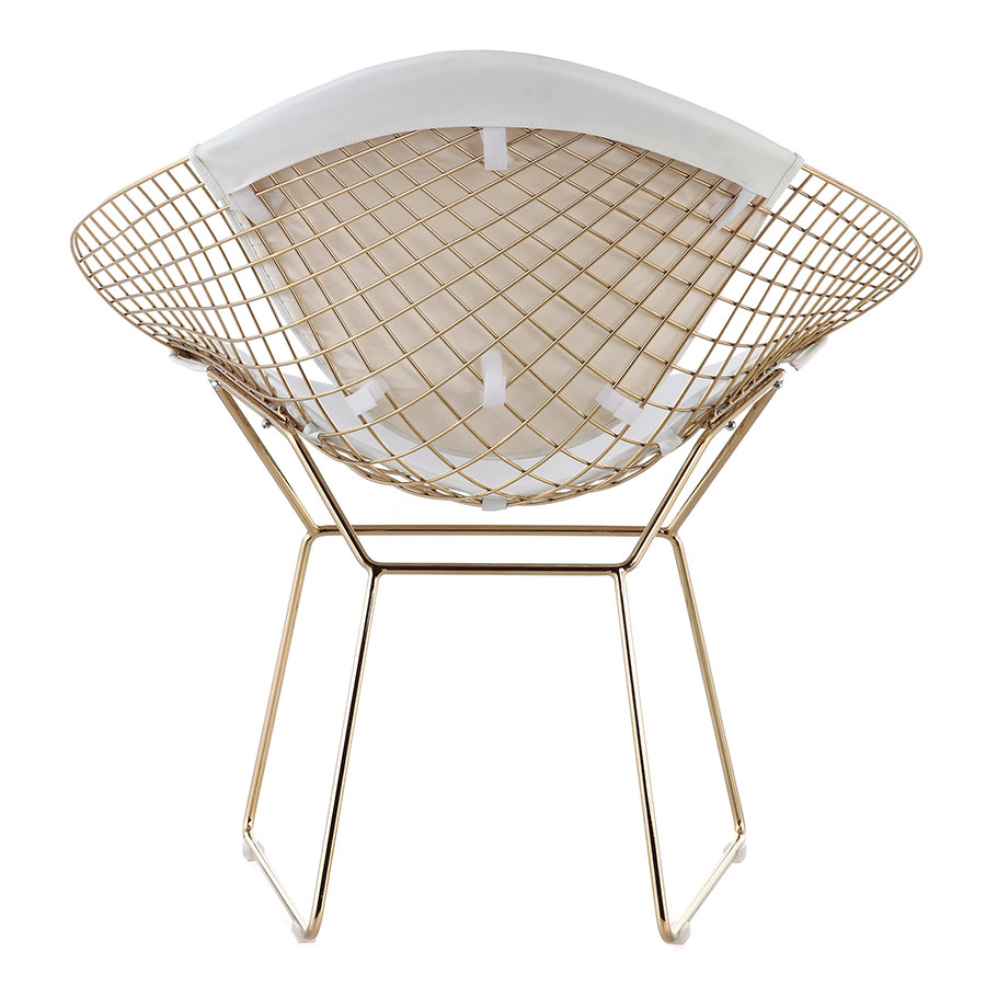 Moina Gold + White Contemporary Lounge Chair