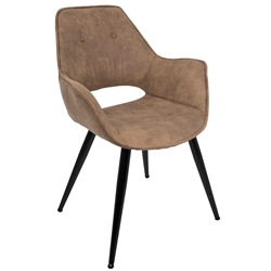 Contemporary Dining Chairs - Monaco Brown Arm Chair