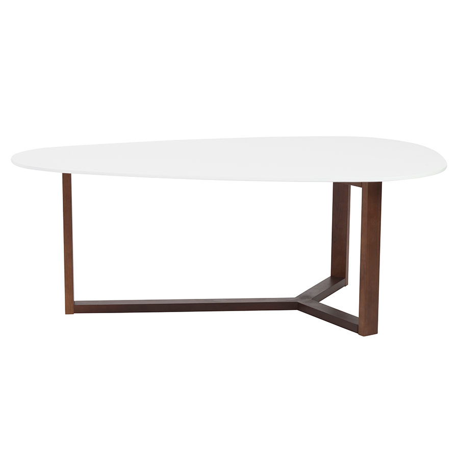 Morty White Contemporary Cocktail Table