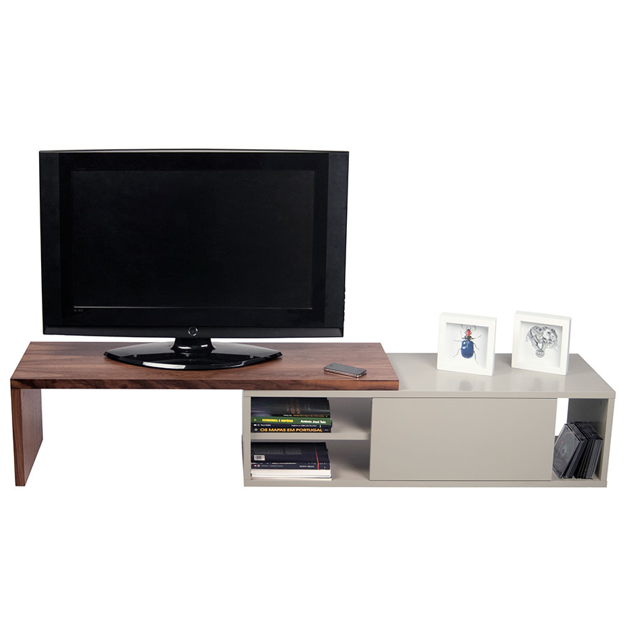 Move Contemporary TV Stand Dressed