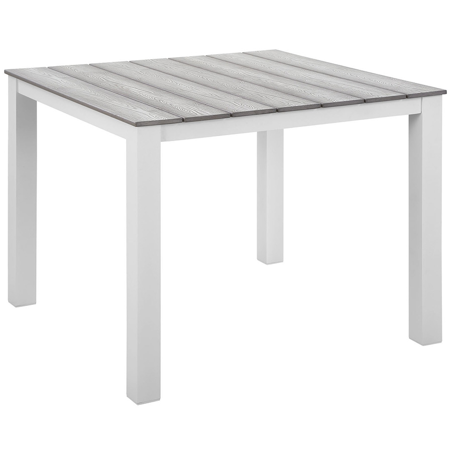 Murano White 40 Inch Modern Outdoor Dining Table