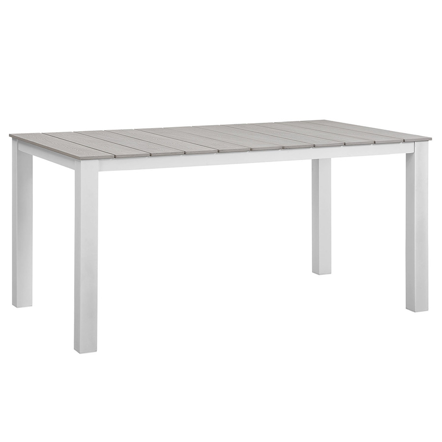 Murano White 63 Inch Modern Outdoor Dining Table