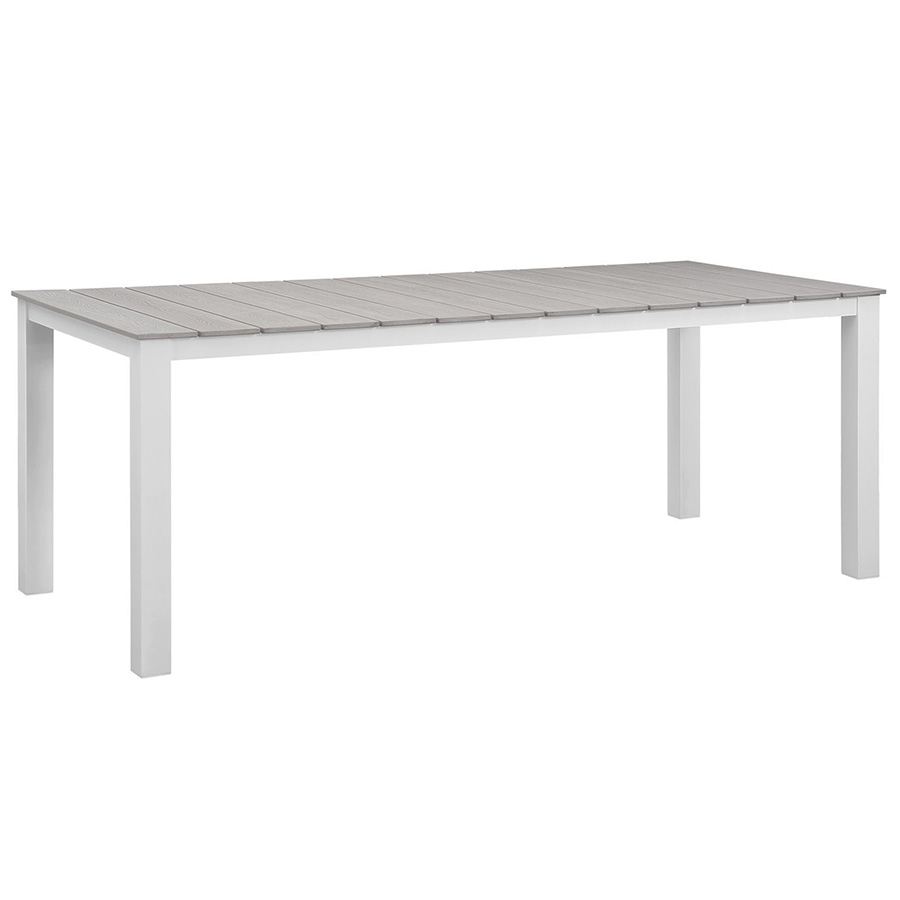 Murano White 80 Inch Modern Outdoor Dining Table
