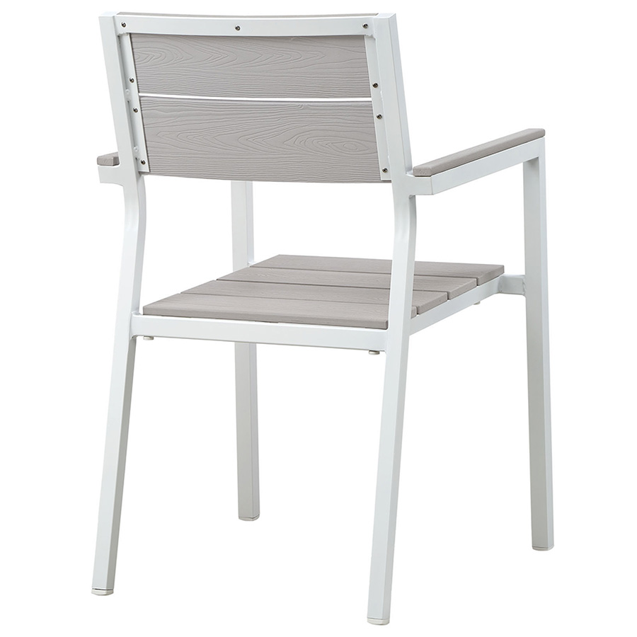 Murano White Outdoor Dining Chair