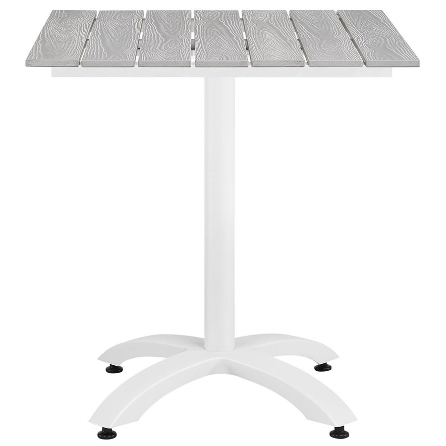 Murano White Modern Outdoor Patio Table - Front View